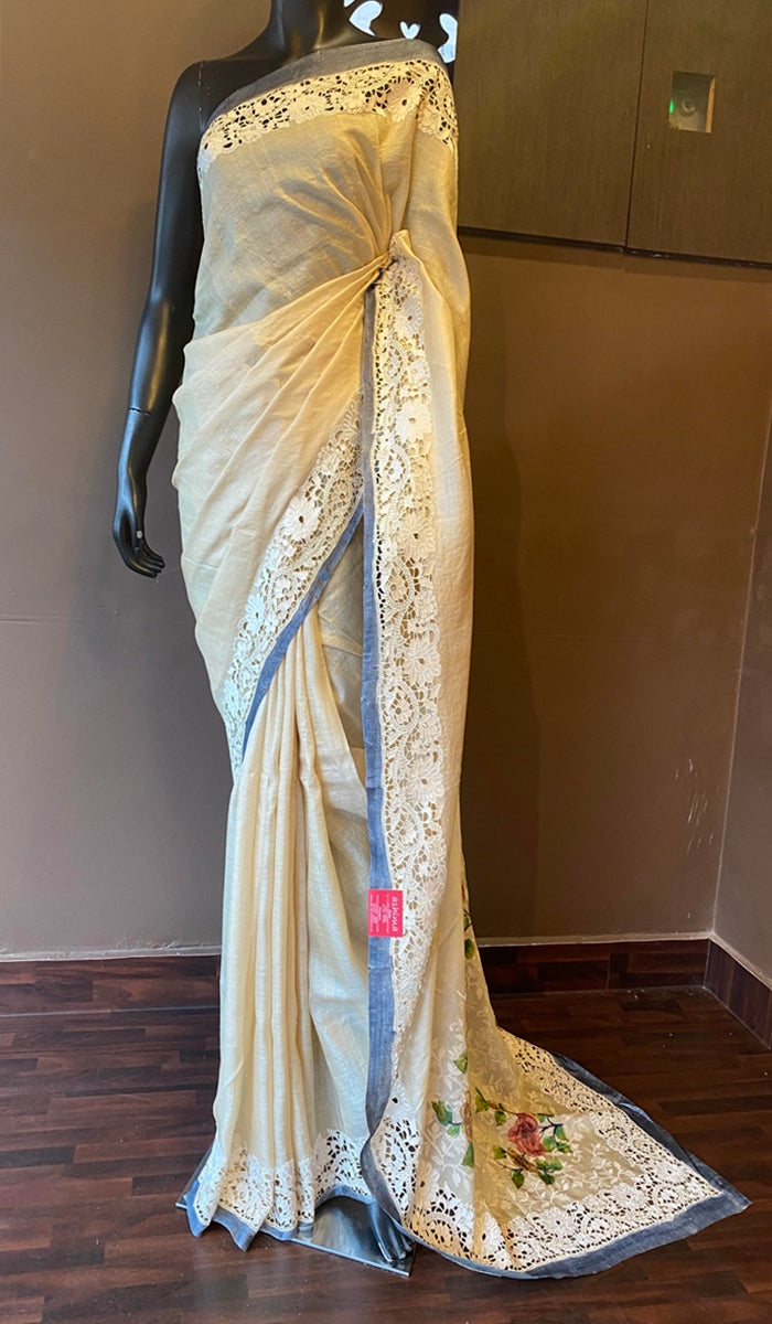 Tussar silk saree 13045