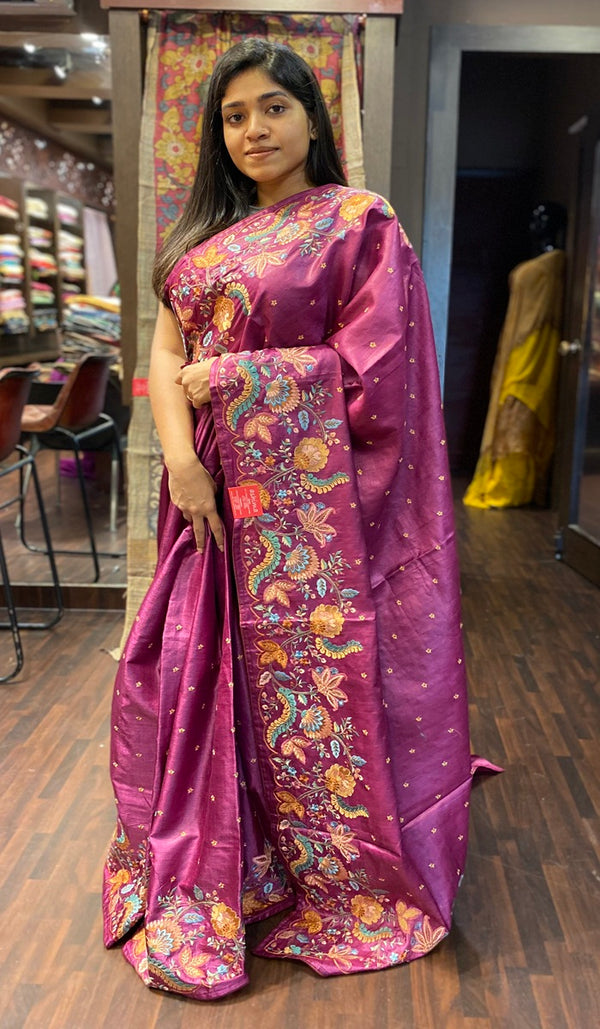 Tussar silk saree  13929