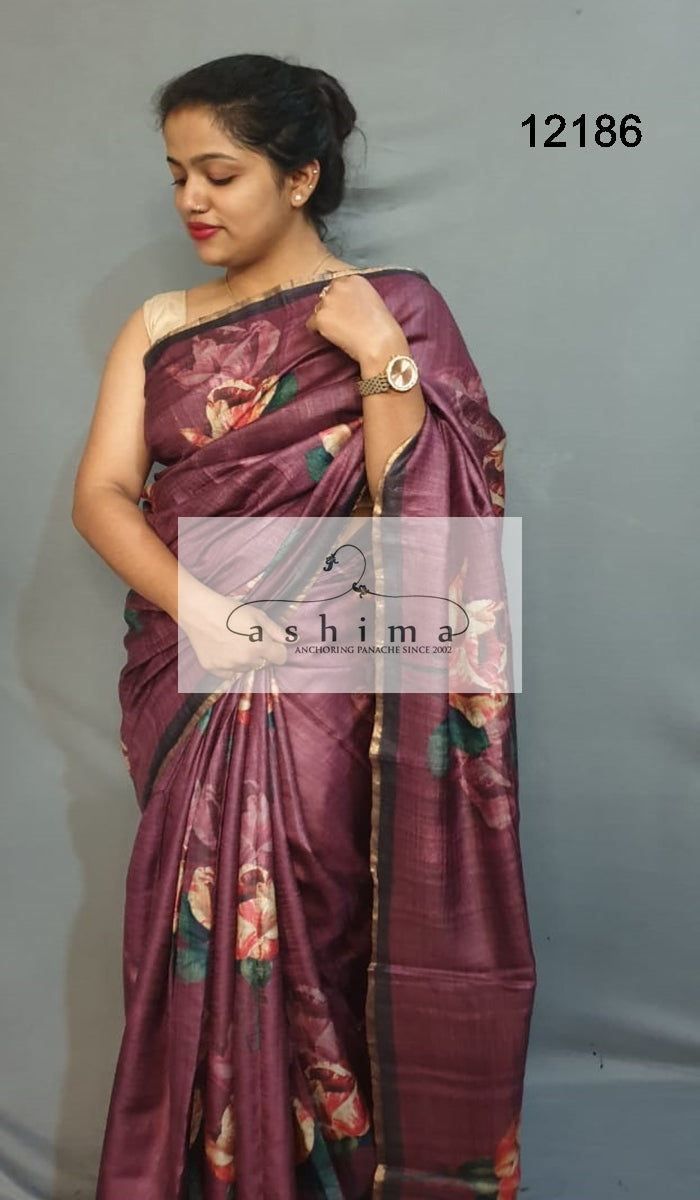 Tussar silk saree 12186