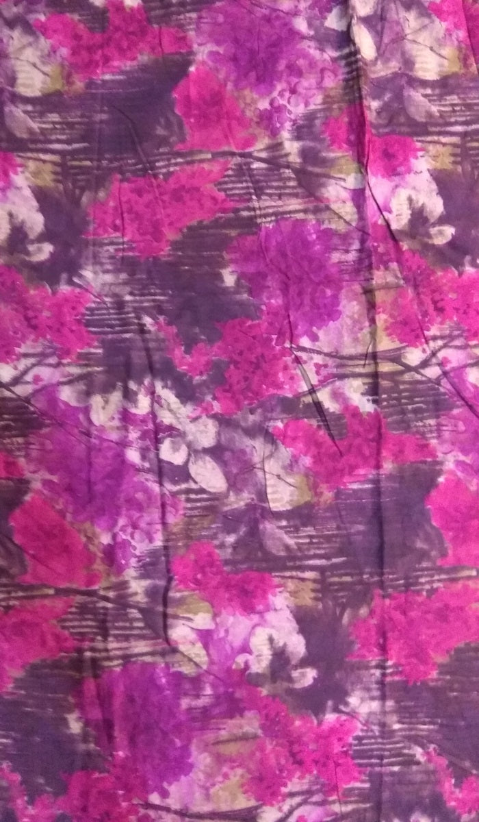 Printed Rayon Cotton Fabric FBK92