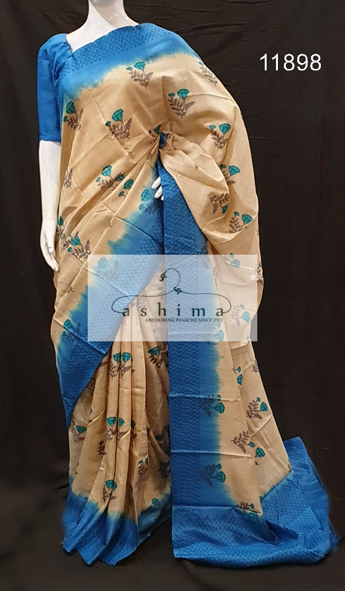Tussar silk saree 11898