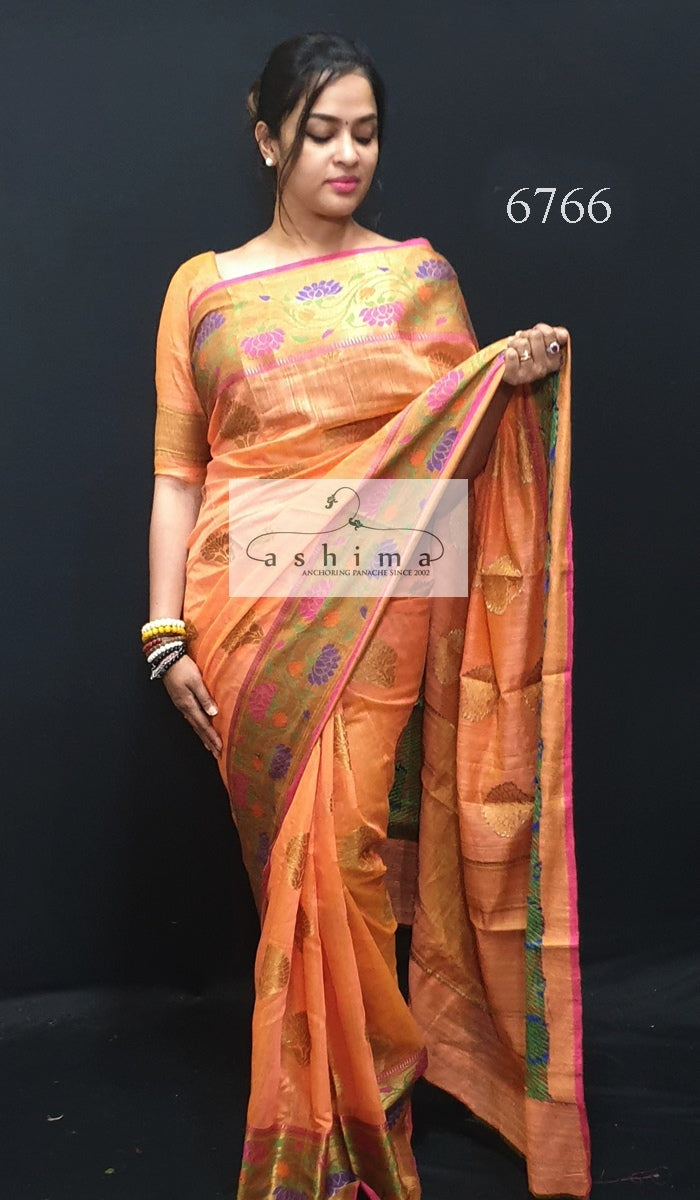 Semi Banarasi Saree 6766