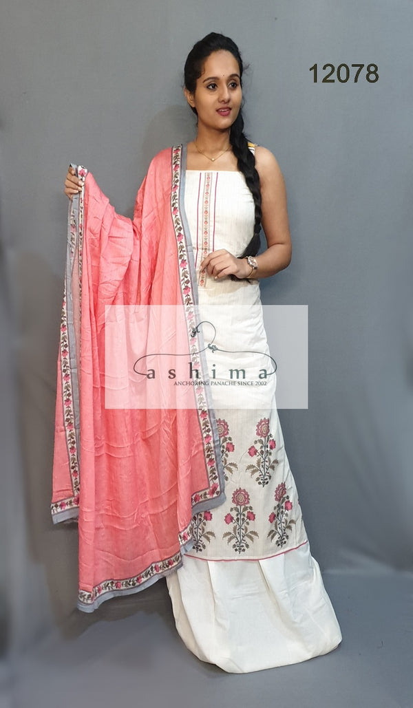 Unstitched salwar suit 12078