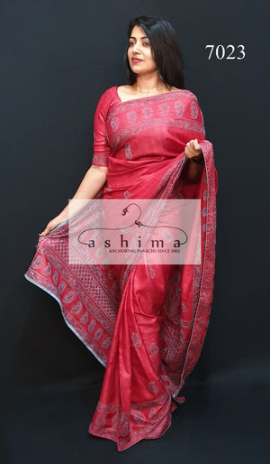 Tussar Silk Saree 7023