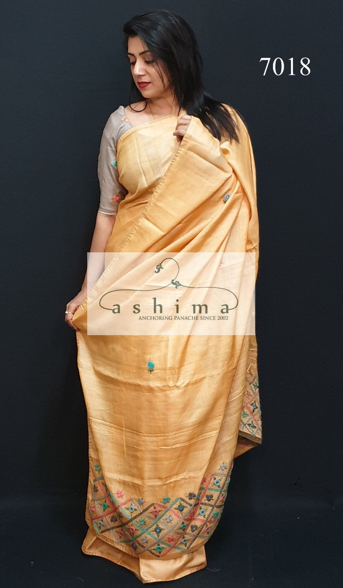 Tussar Silk Saree 7018