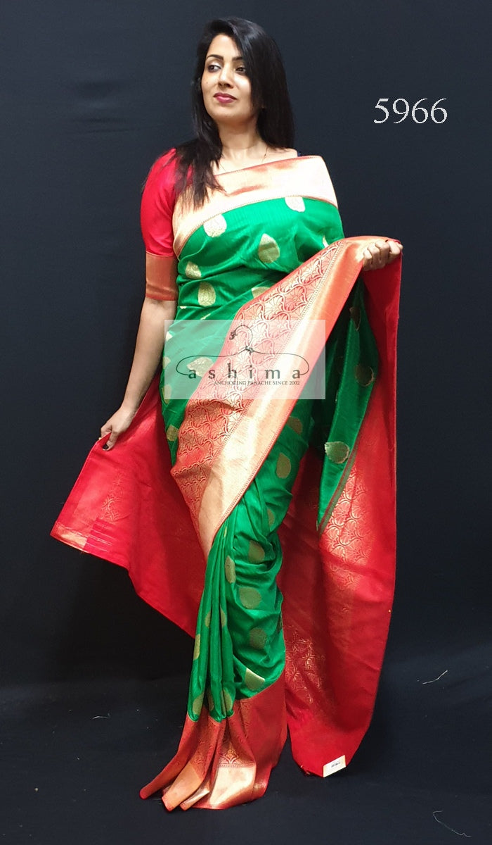 Semi Banarasi Saree 5966