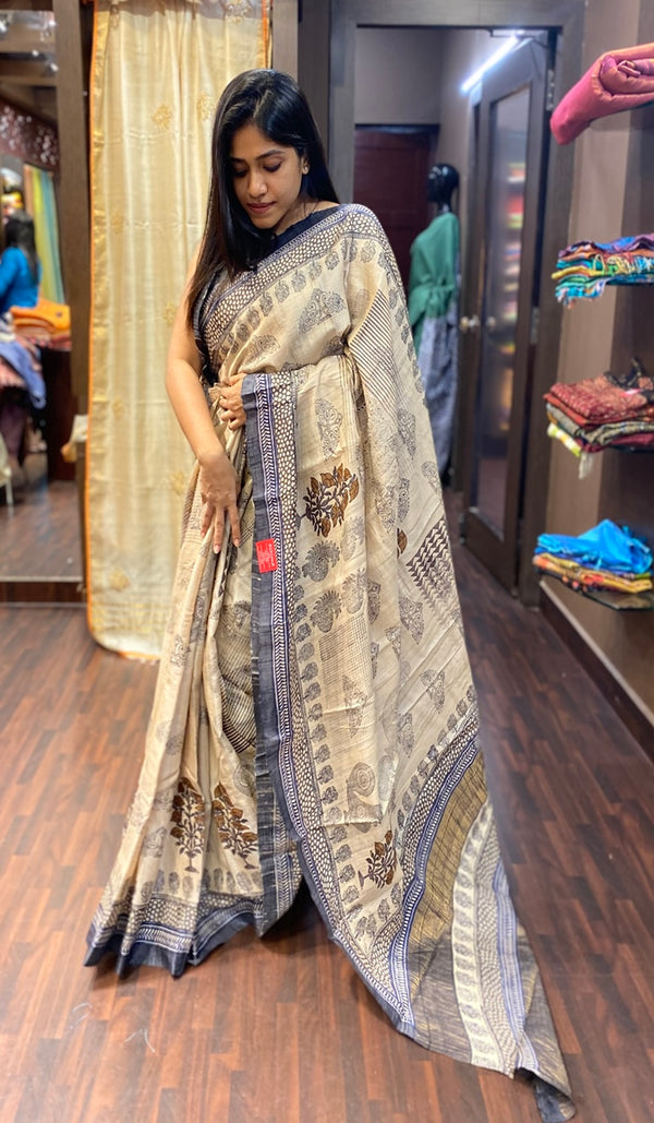 Tussar silk saree 13776