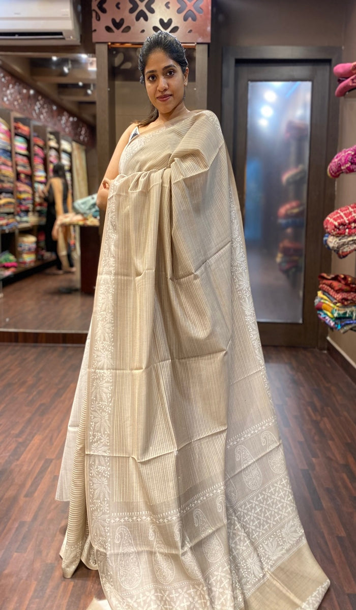 Chanderi silk saree 13363