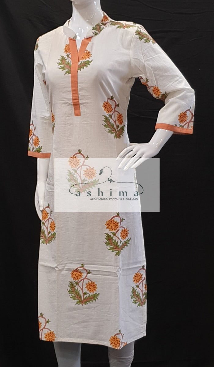 Cotton Kurti - Medium- Kurti 91