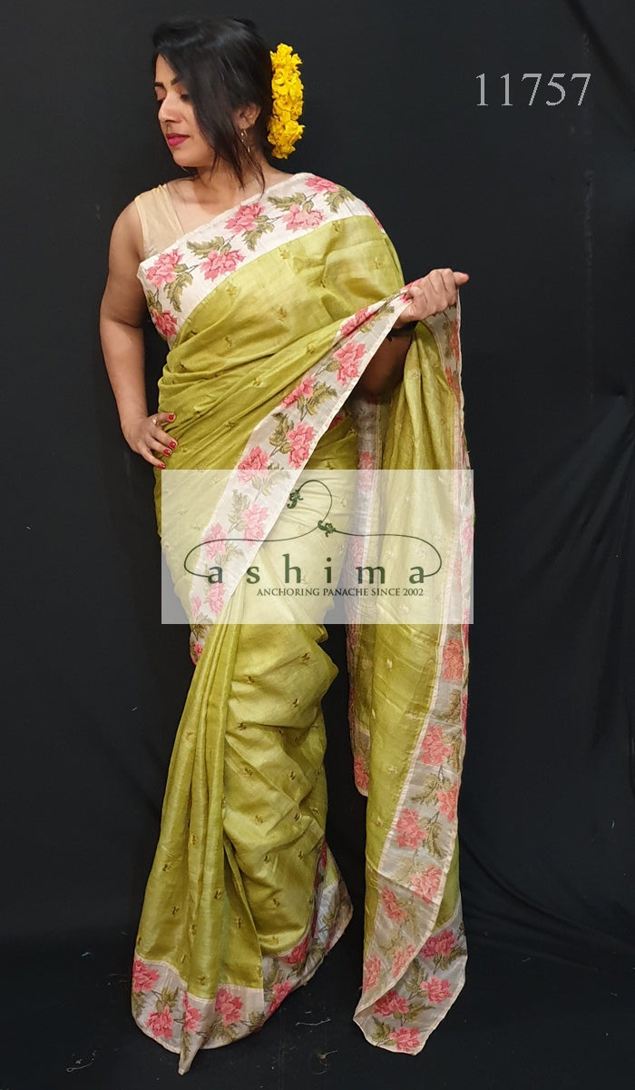 Tussar Silk Saree 11757