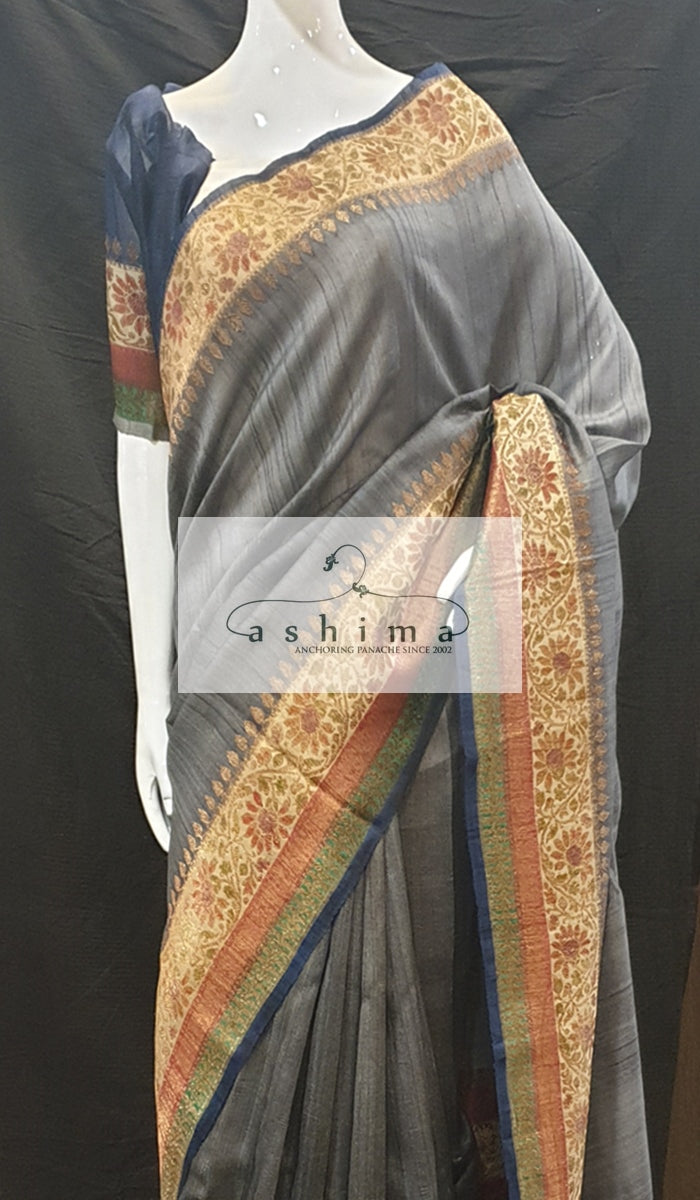 Tussar silk saree 12819