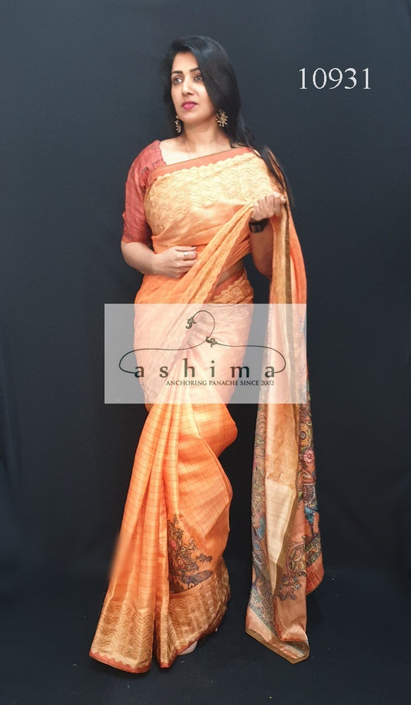 Semi silk saree 10931