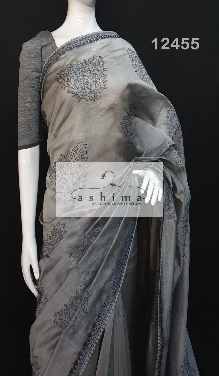 Chanderi saree 12455