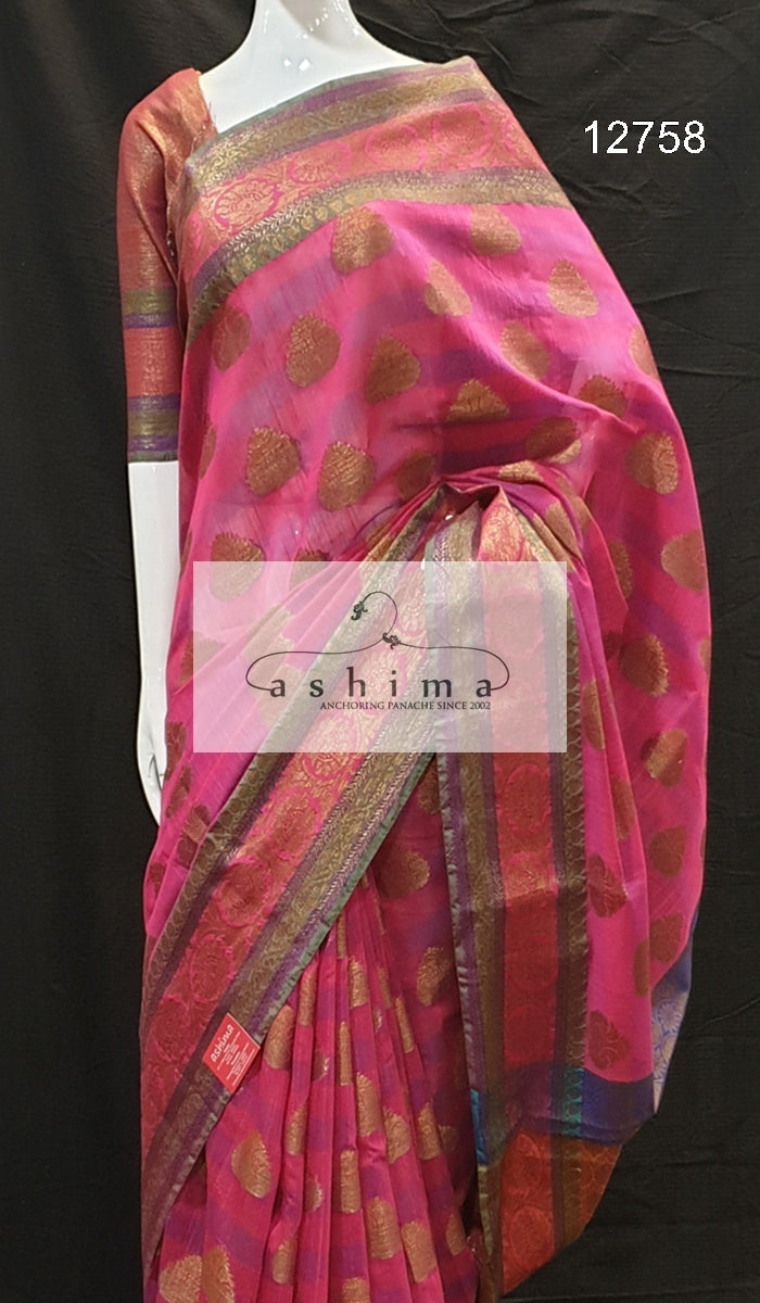 Semi banarasi saree 12758