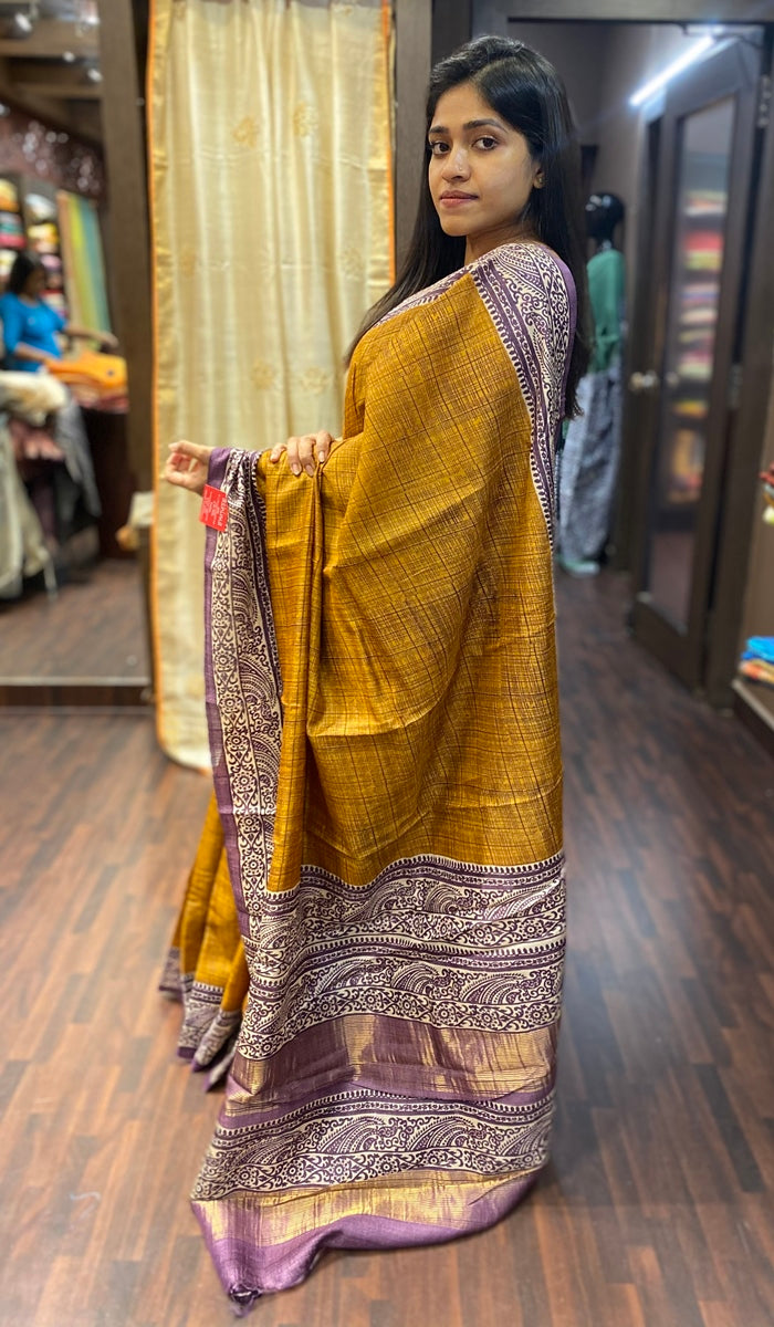 Tussar silk saree 13775