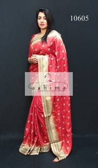 10605 Tussar silk saree