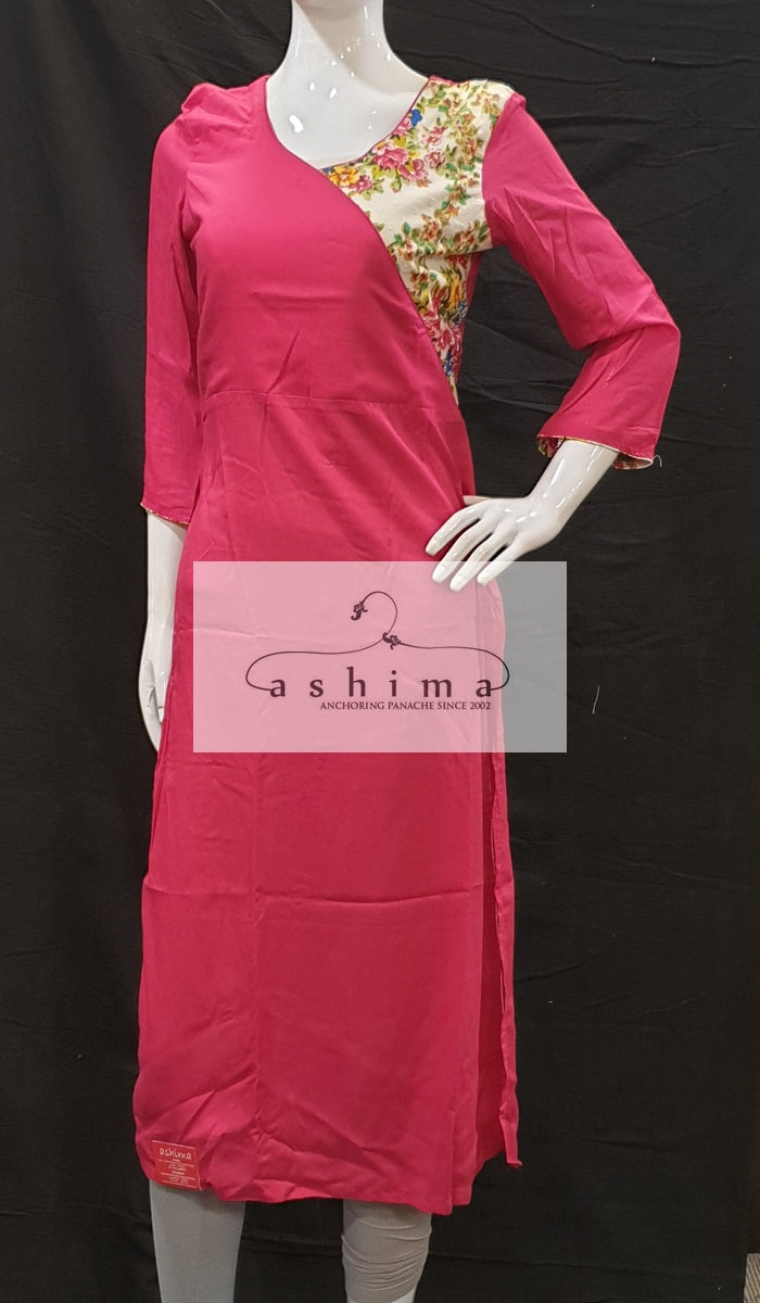 Cotton and rayon kurti - Medium- Kurti 31