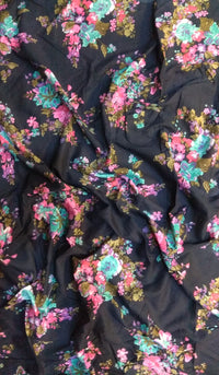 Floral Printed Cotton Fabric FBK75
