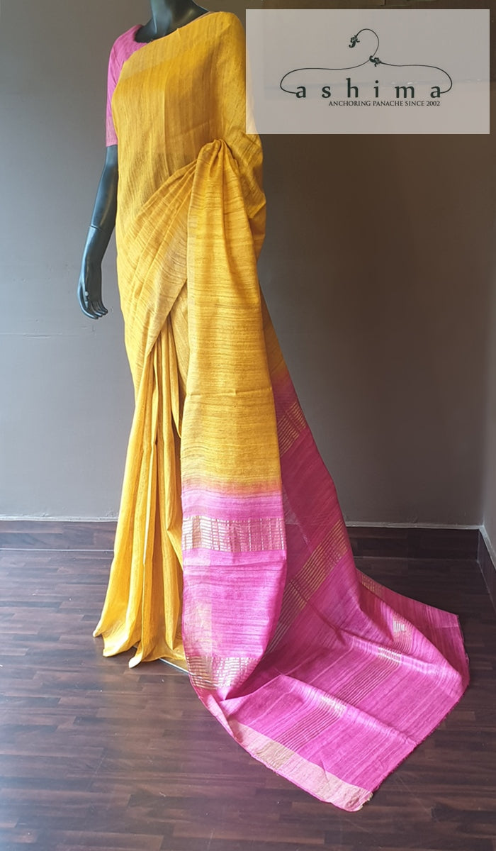 Tussar silk saree  12851