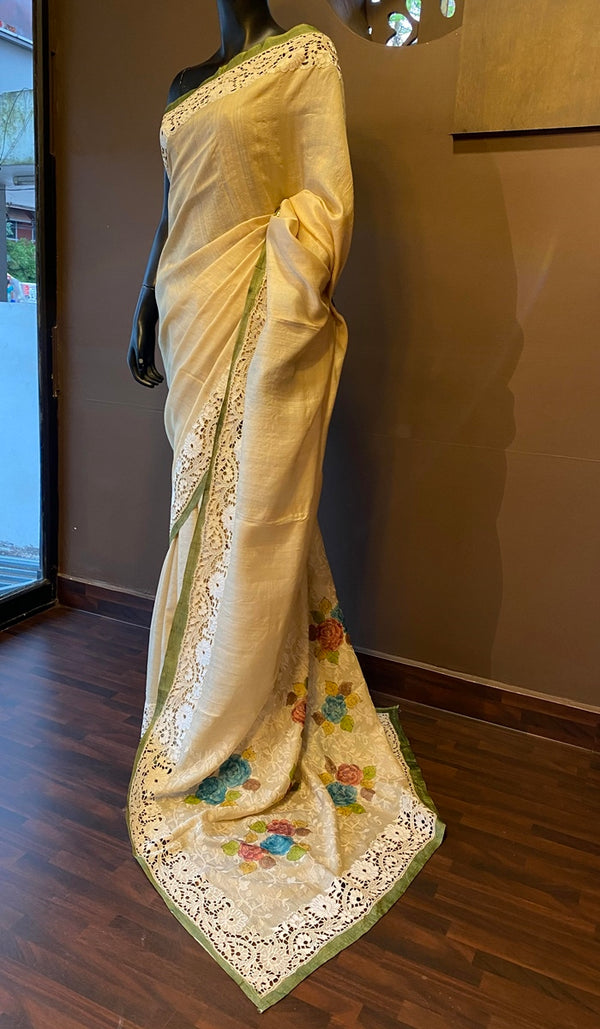 Tussar silk saree 13044