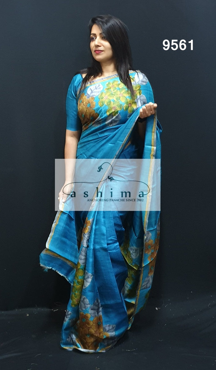 Tussar Silk Saree 9561