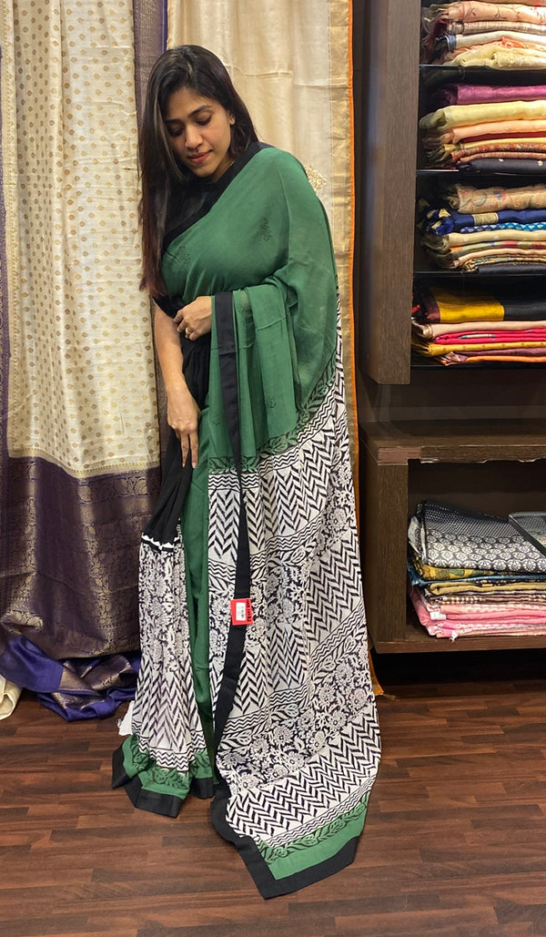 Semi georgette saree  14482