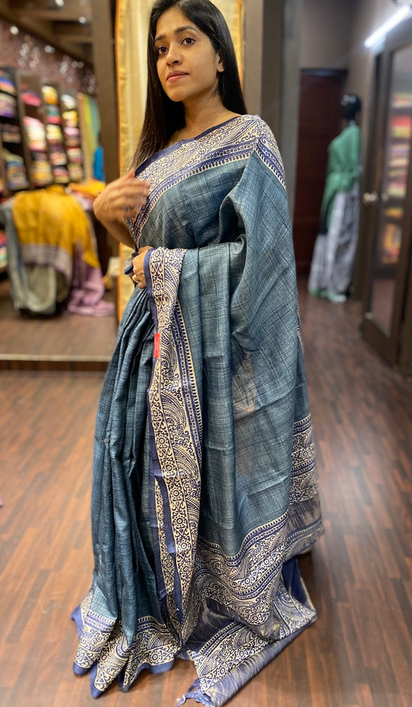 Tussar silk saree 13777