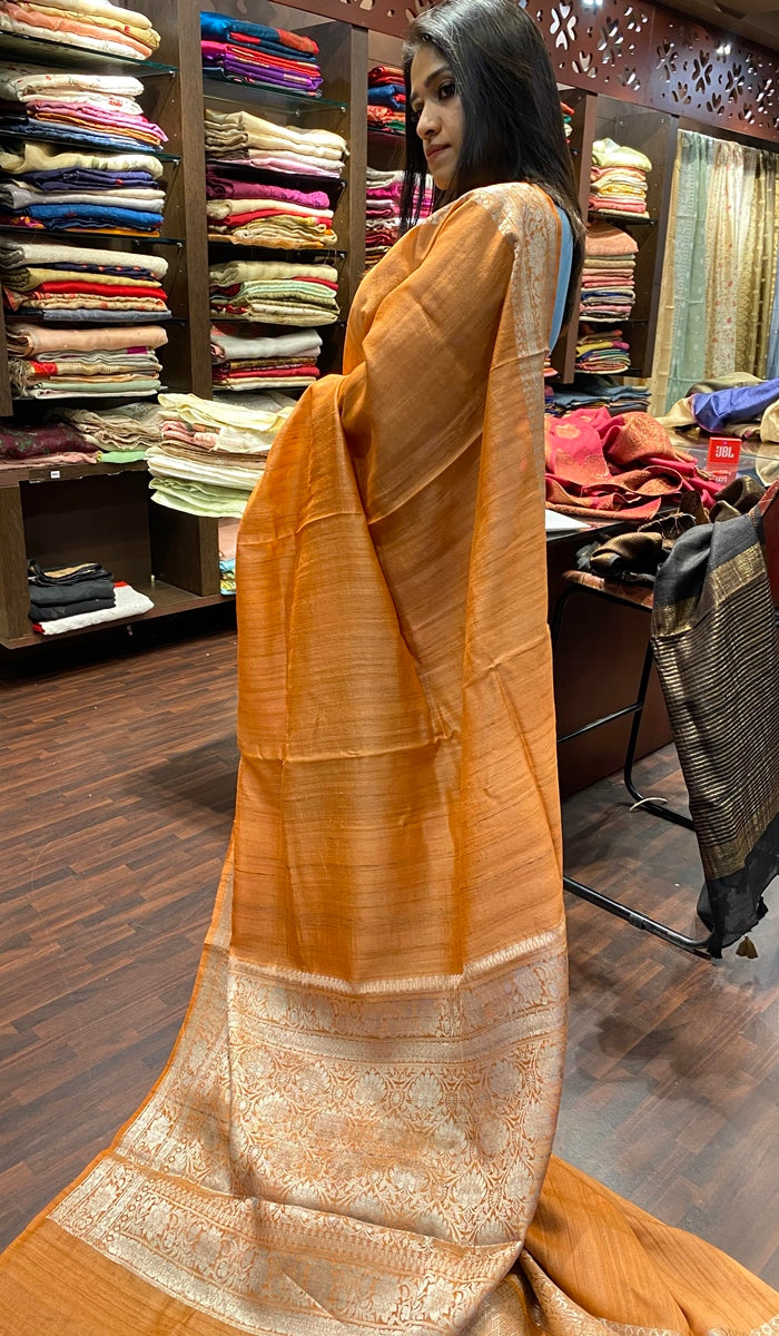 Tussar silk saree 13075