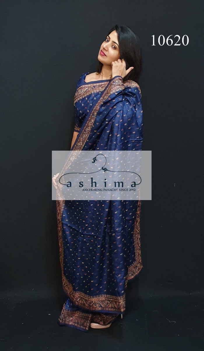10620 Tussar silk saree