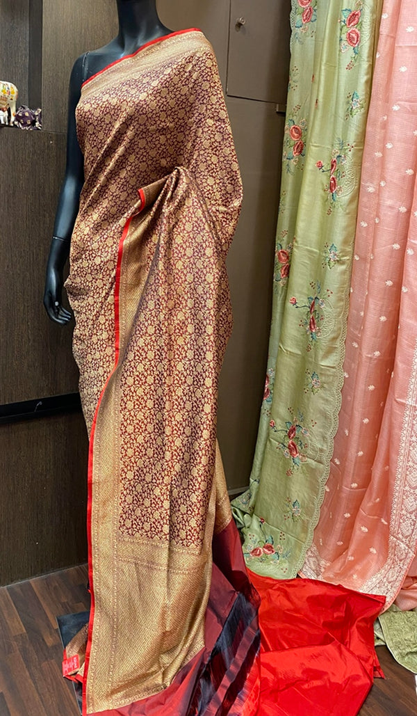 Handwoven banarasi brocade saree 13080
