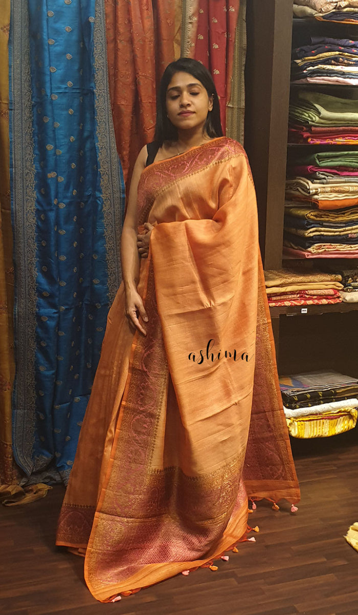 Tussar silk saree 12863