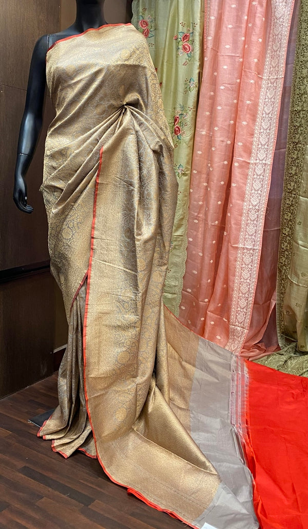 Handwoven banarasi brocade saree  13084