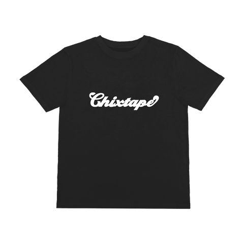White Chixtape Black T-Shirt