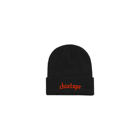 Orange Chixtape Black Beanie