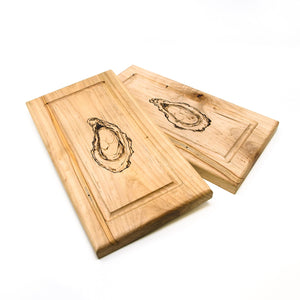 Oyster Serving Boards, Custom Set of 2