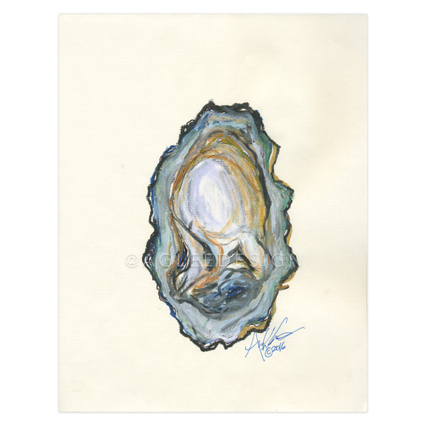 Oyster 2 of 2 on Calligraphy Paper