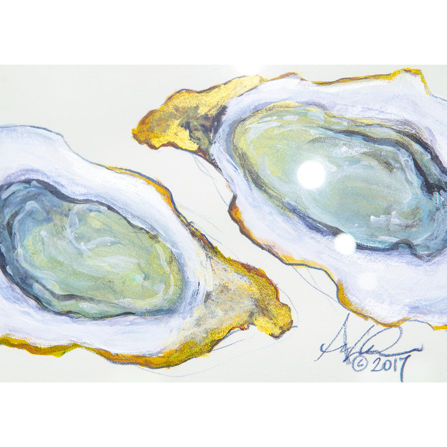 A Pair of Oysters, 8x10""