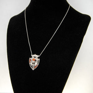 Thistle Shield Pendant Necklace