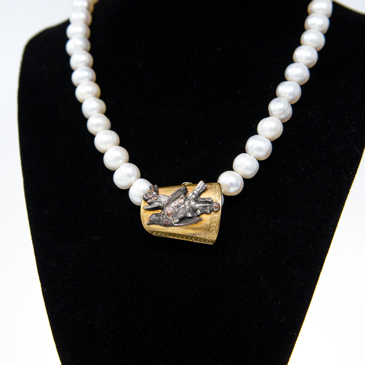Freshwater Pearl Necklace with Wild Game Enhancer