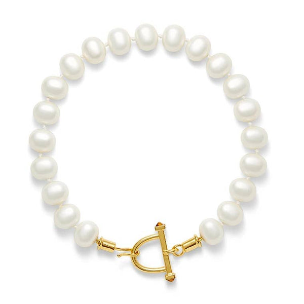 Pearls with Stirrup Clasp