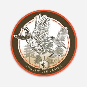 "Quail Covey Decal, 3"" Circle"