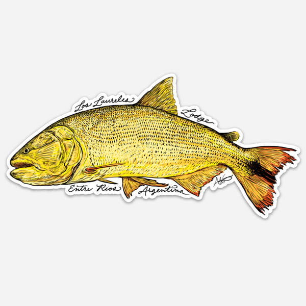 Los Laureles Golden Dorado Decal, 6.5 x 3.5""