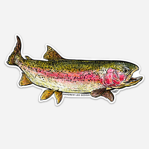Rainbow Trout Decal, 6.5 x3.5""