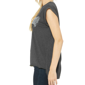 Charging Tiger Women's Top, Dark Heathered Grey
