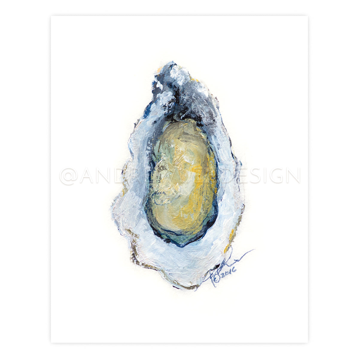 "Oyster in iridescents, 11x14"" Print"