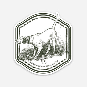 English Pointer Decal, 3x3""