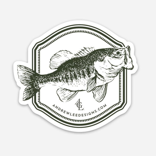 Largemouth Bass Decal, 3x3""