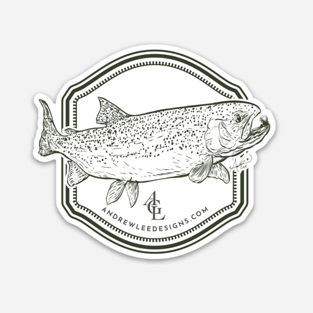"""Rainbow Trout Decal, 3x3"""""""