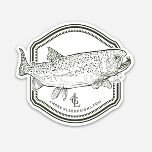 Rainbow Trout Decal, 3x3""