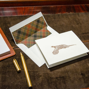 Letterpress Pheasant Stationery Set of 5